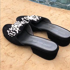Stuart Weitzman Decorslide Embellished Sandal